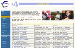 BSBI website local groups
