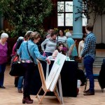 Demonstrating botanical art, RHS 2014