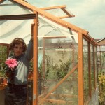 Installing his new tropical glasshouse for orchids and at least one Hibiscus, aged 15